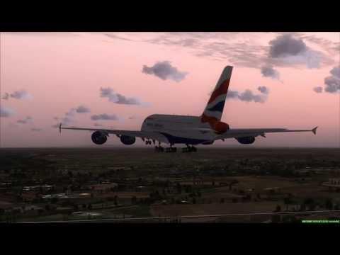 British Airways A380 lands at Bangkok