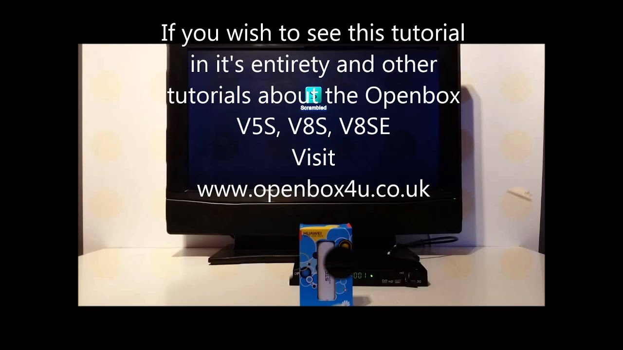How to enable mobile broadband on the Openbox V8S