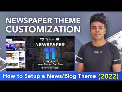 Newspaper Theme Customization Full Tutorial In Hindi
