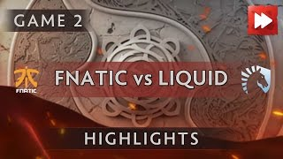 Fnatic vs Team Liquid [Game 2] The International 2016 - Dota Highlights