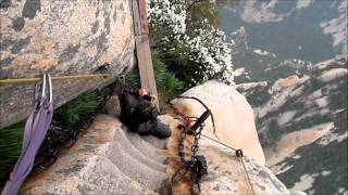 Mount Huashan plank trail, China