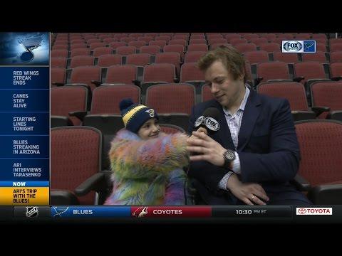 Ari interviews Tarasenko on FOX Sports Midwest
