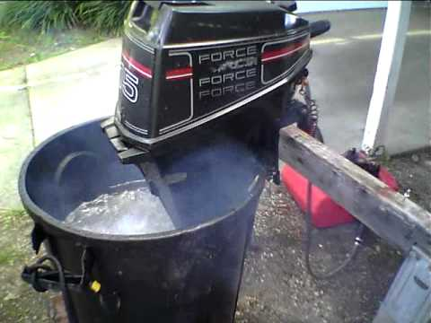 Force 15 Hp Outboard Start Run Youtube