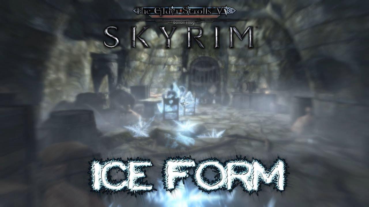 Skyrim : Ice Form Shout! - YouTube
