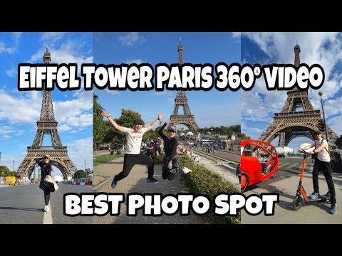 Eiffel Tower in 360° view from Palais de Chaillot