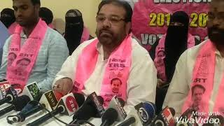 TRS Old City Bhavan Rasheed Shareef TRS Minority Leader  Addressing Media Election Campaign