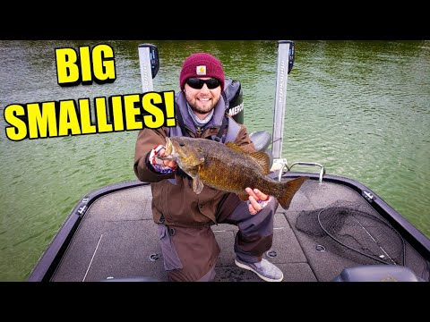 INSANE Early Spring Smallmouth Bass Fishing!! (2019) Part 1