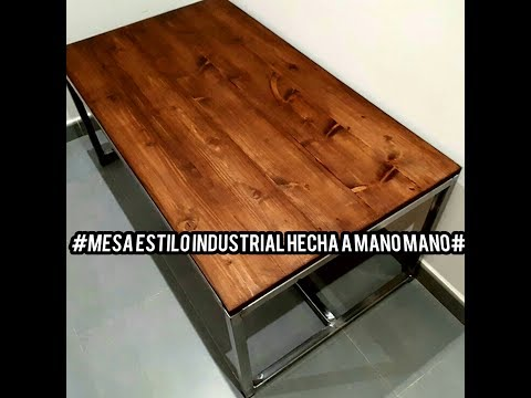 muebles de acero madera industrial mesa estilo industrial de madera y acero youtube