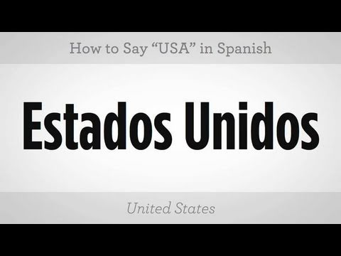"""How to Say """"USA"""" 
