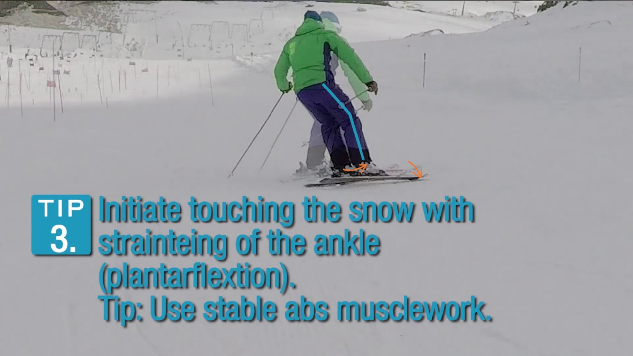 Initiating A Carving Turn In Alpine Skiing Youtube