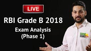 RBI Grade B Exam 2018 Analysis