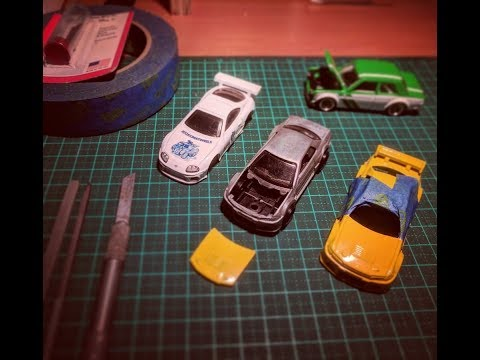 My Custom Hot Wheels How To: Precisely Cut and Remove Bonnets from  Diecast Cars