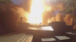 Пуск баллистической ракеты расчетом ОТРК «Искандер» ВВО