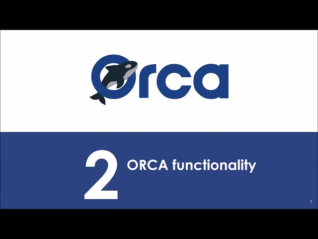 (Webinar) ORCA OpenCall 1 for Experiments - ORCA functionality
