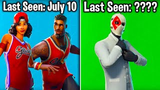 10 MORE SKINS BECOMING RARE in Fortnite Battle Royale! (you didn't know these were rare)