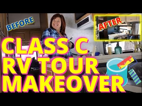 rv-living:-how-to-remodel-a-1993-class-c-rv-with-a-little-paint-(tour)