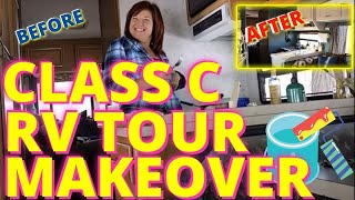 RV Living: How To Remodel a 1993 Class C RV with a little paint (tour)