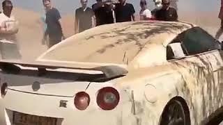 Rescue a Nissan gtr in desert