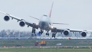 Video Dangerous CROSSWIND LANDINGS during a STORM at Amsterdam Schiphol - Boeing 747, Airbus 380 ... download MP3, 3GP, MP4, WEBM, AVI, FLV Juli 2018