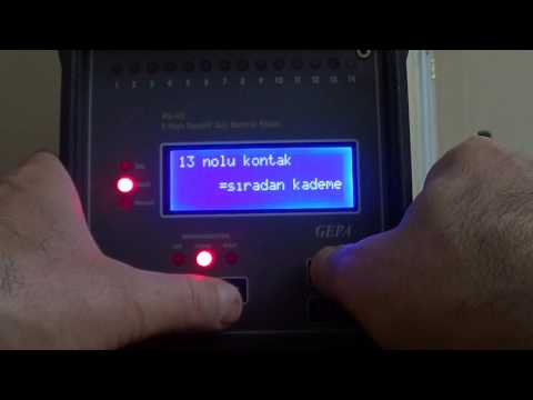 GEPA Reaktif Guc Rolesi Ayar Videosu