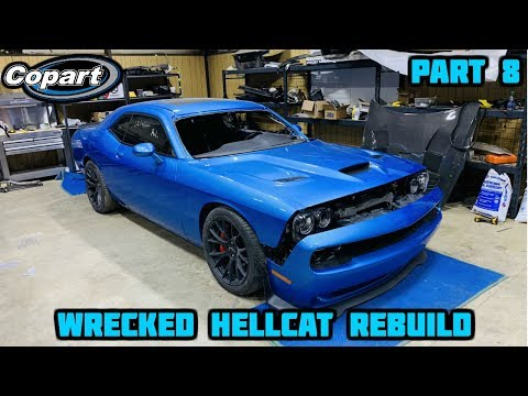 Rebuilding a Wrecked 2016 Dodge Hellcat Part 8