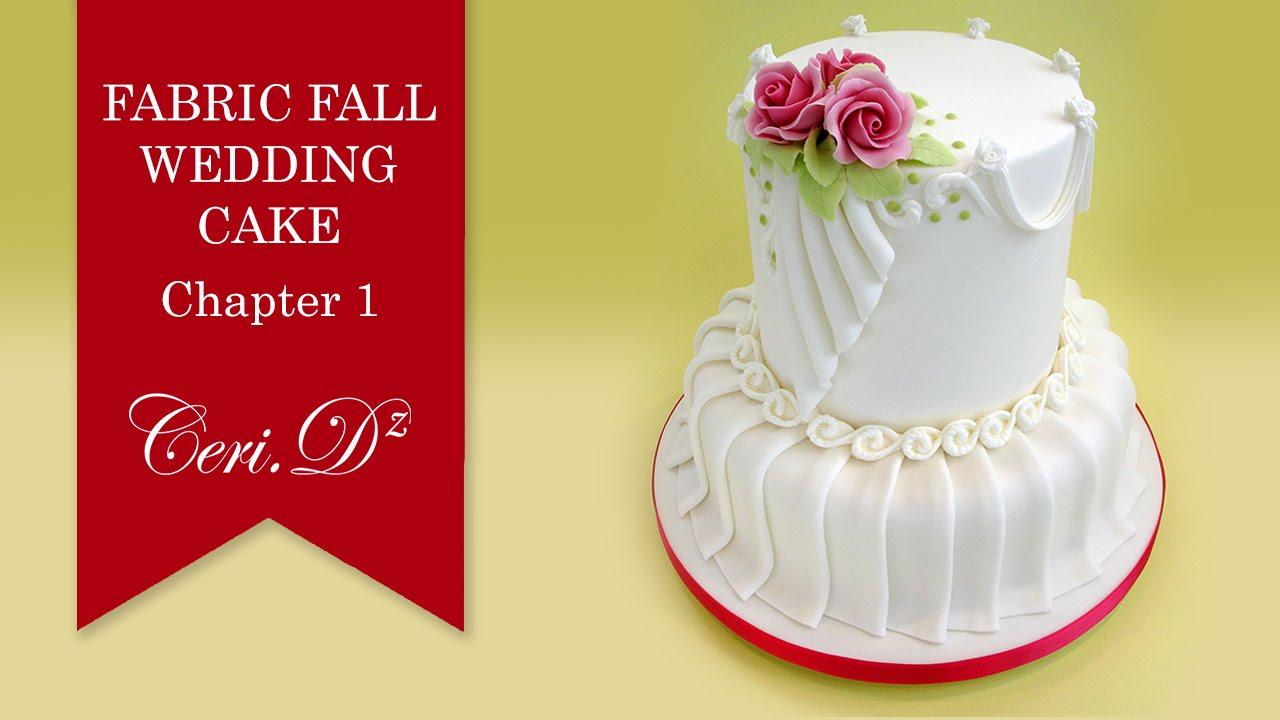Fabric Fall Wedding Cake #1 | Introduction - YouTube