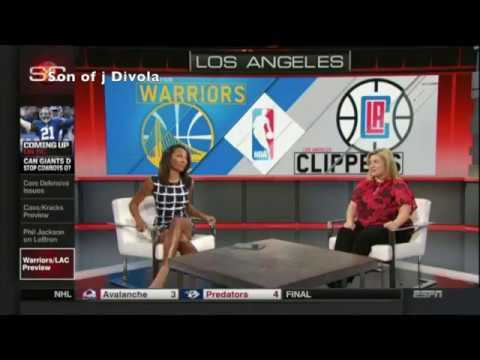 Cari Champion Open Legs, Antonietta Collins &  Elle Duncan | ESPN