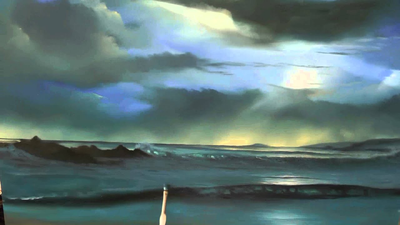 How to paint a seascape in oils a complete oil painting for How to start oil painting
