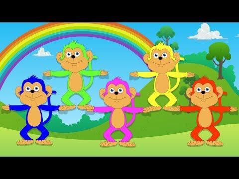 Five Little Monkeys | Nursery Rhymes