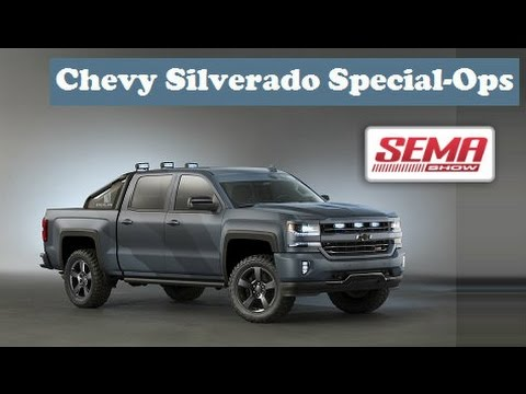 chevrolet silverado special ops concept at sema show 2015 youtube. Black Bedroom Furniture Sets. Home Design Ideas