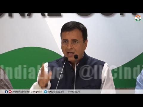 Rafale Scam: AICC Press Briefing By Randeep Singh Surjewala at Congress HQ