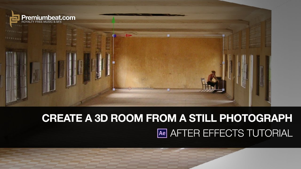 After effects tutorial create a 3d room from a still Create a 3d room