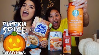 TRYING EVERYTHING PUMPKIN SPICE!! 🎃 *HILARIOUS*