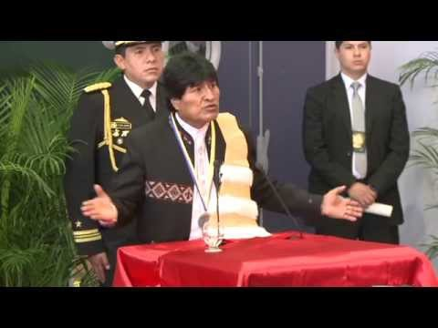 Bolivian President Evo Morales is awarded an honorary doctorate in Pau, South of France