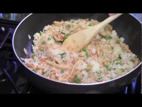 How to make spicy thai basil chicken fried rice