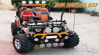 MODIFIED JEEP READY FOR VARANASI (U.P)..JAIN MOTORS JEEP@8199061161