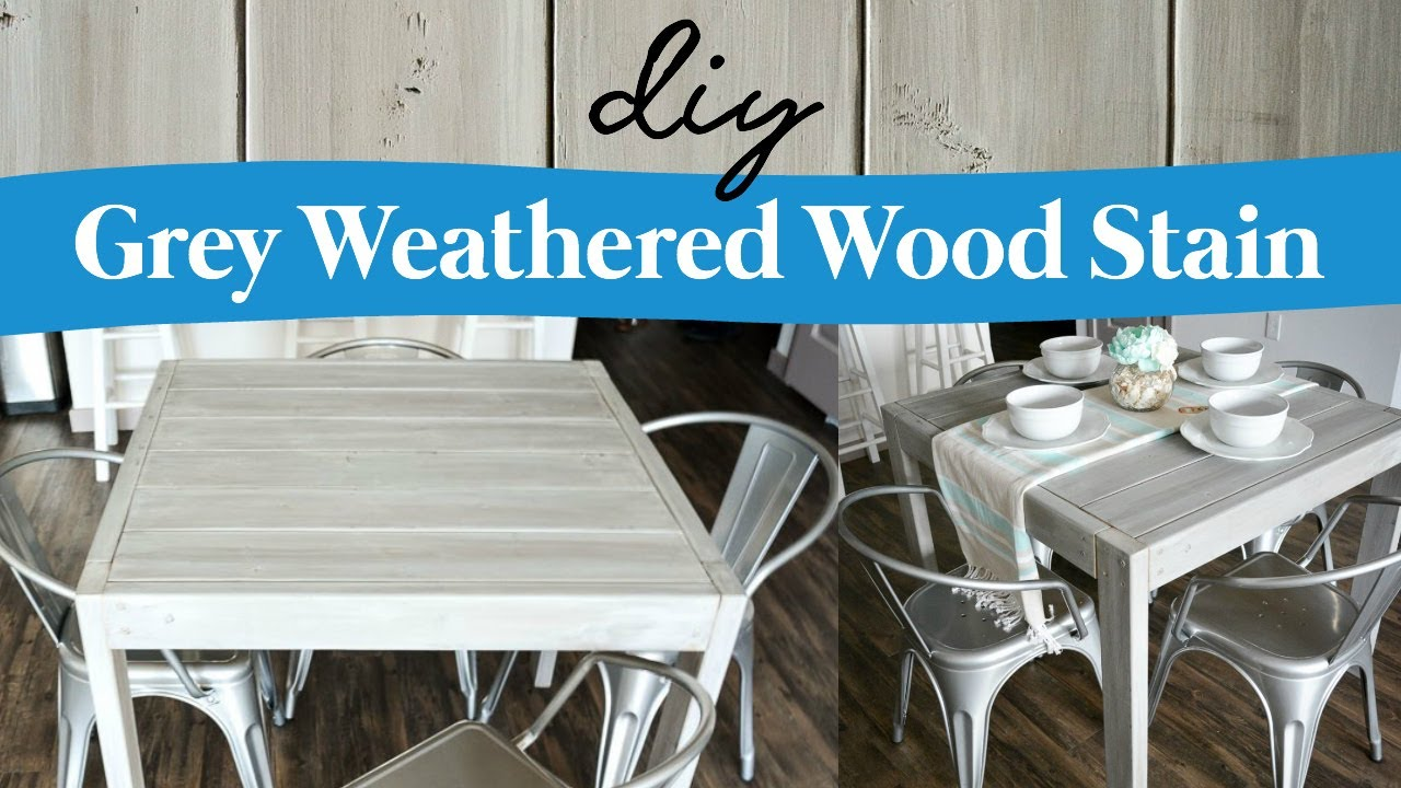 Diy Grey Weathered Wood Stain Youtube