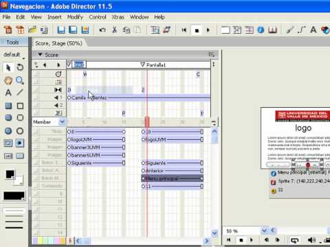 Keygrames in Macromedia Director