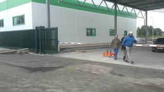 Работа оборудования, автоматические откатные ворота и шлагбаум(, 2016-07-29T06:13:49.000Z)