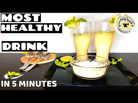 Sattu Drink | Chana Sattu | Most Easy Healthy Drink ever | Kitchen with a Knife | In 5 minutes-Ep10