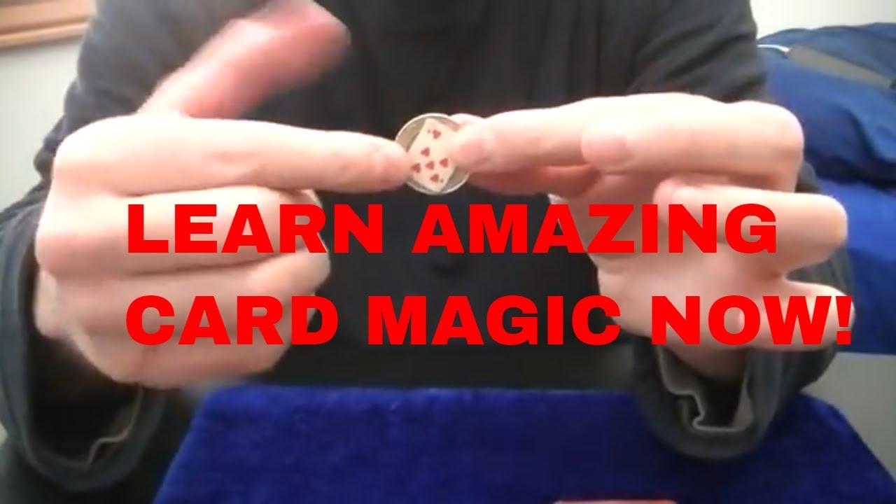Free Magic Tricks: Coin Cut with Mini card Tutorial - YouTube