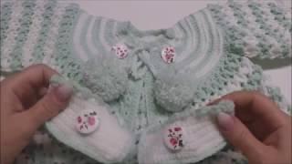 7 Goldfaden  Mастер класс Кофточка для новорожденного Вязание