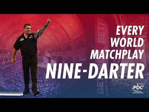 Every Nine-Darter in World Matchplay History