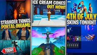 *NEW* Fortnite x Stranger Things PORTAL, July 4th Skins/Contrail TONIGHT, CATTUS Event Details!