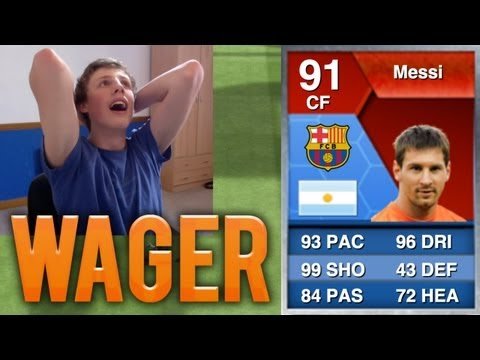 INSANE 91 SPECIAL MESSI WAGER!! - Fifa 13 Ultimate Team LIVE