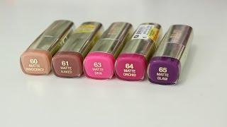 Milani Color Statement Moisture Matte Lipstick Review + Lip Swatches