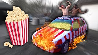 Turning A Car Into A Popcorn Machine!