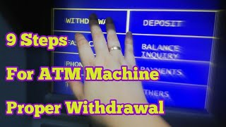 How to Withdraw Moฑey from ATM Machine Properly  Ryll star24