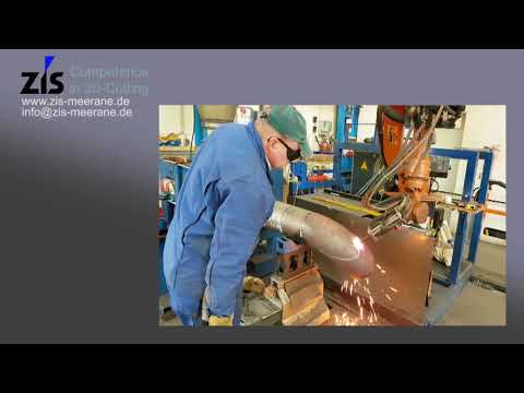 Nozzle Cutting with Kuka Robot and weld preparation, Set-on Nozzle, Branch Nozzle