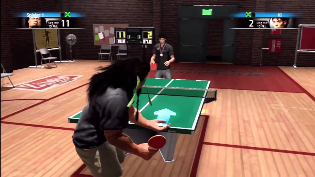 PS3 Sports Champions how to beat Kenji in Tabletennis Champion Cup level / Championspokal HD 720